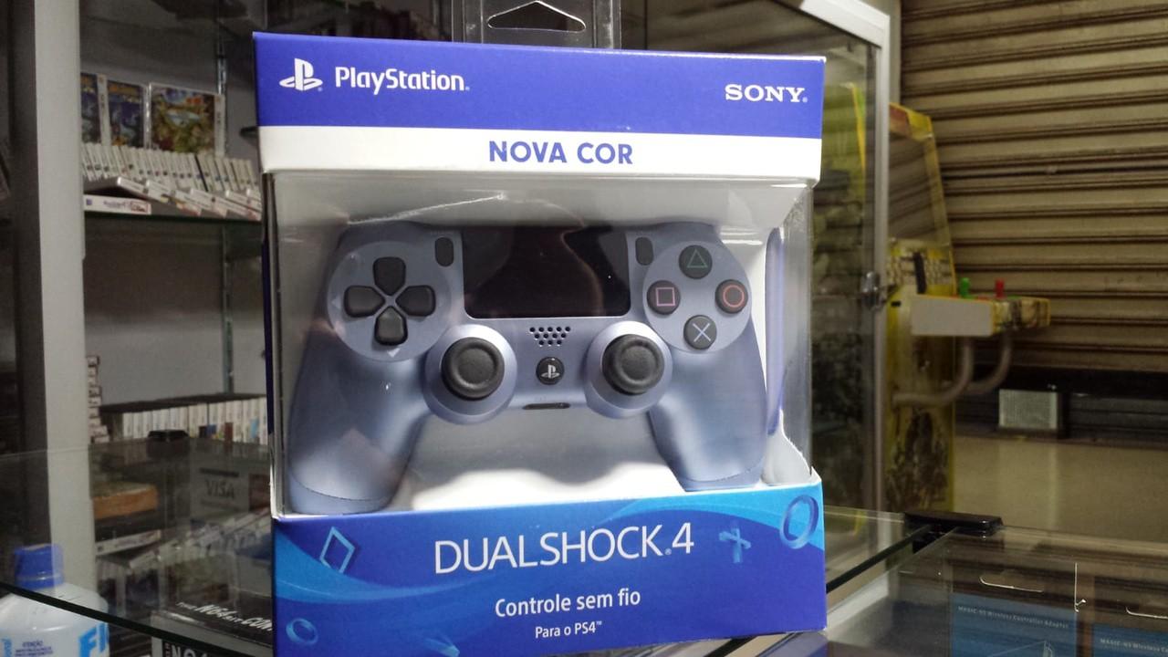 Controle Dual Shock 4  Nova Cor Azul  Titanio