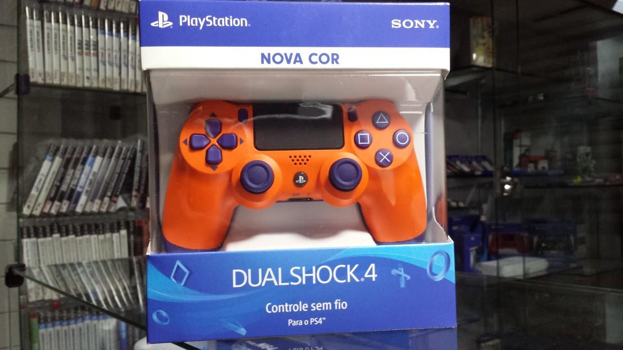 Controle Dualshock 4 Laranja por do Sol