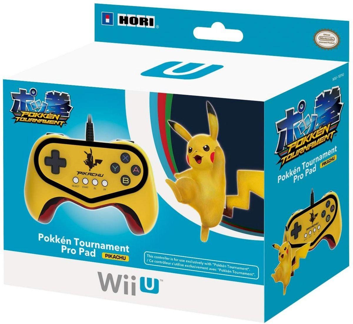 Controle Pikachu Hori Pokken Tournament Pro Pad Switch Wii U