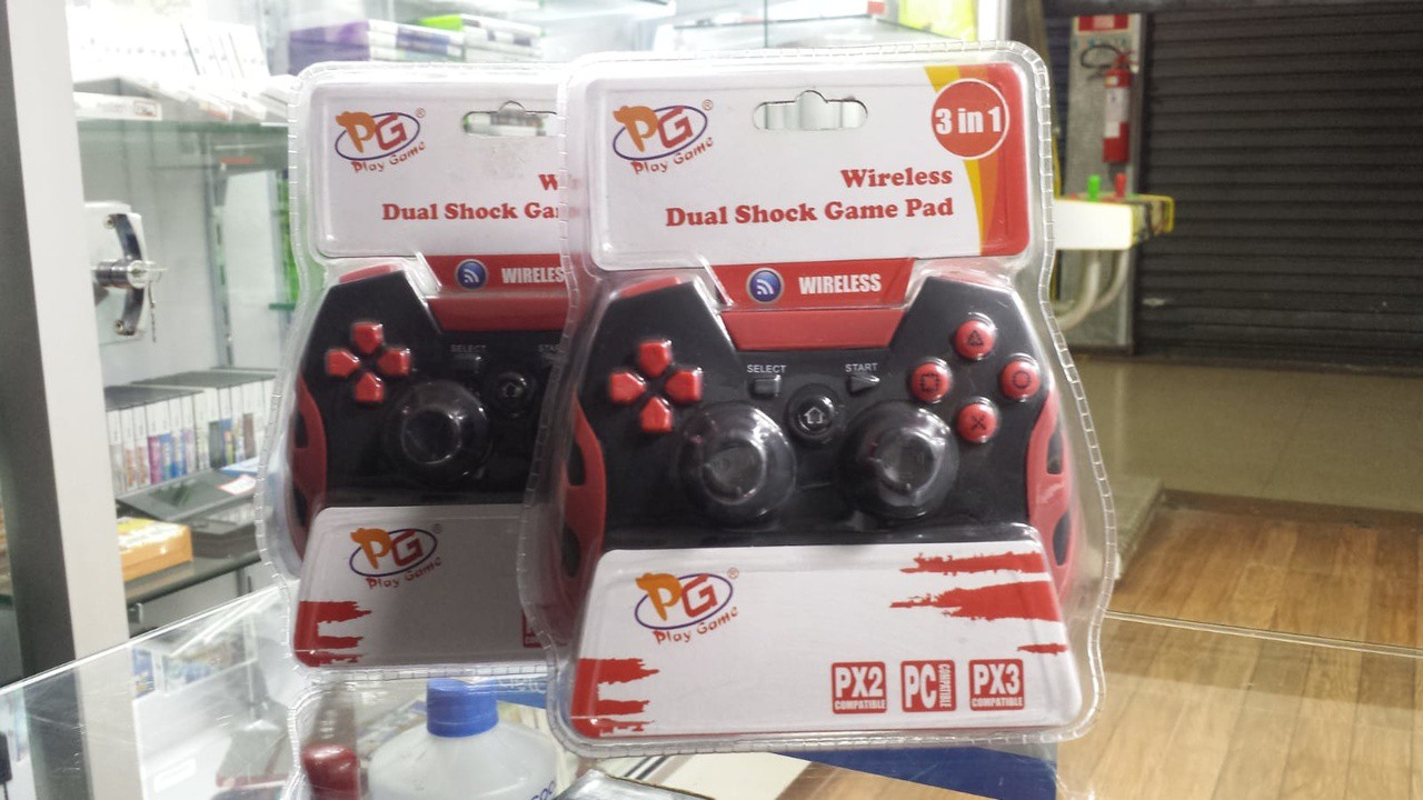 Controle Wireless Dual Shock Game Pad 3 em 1