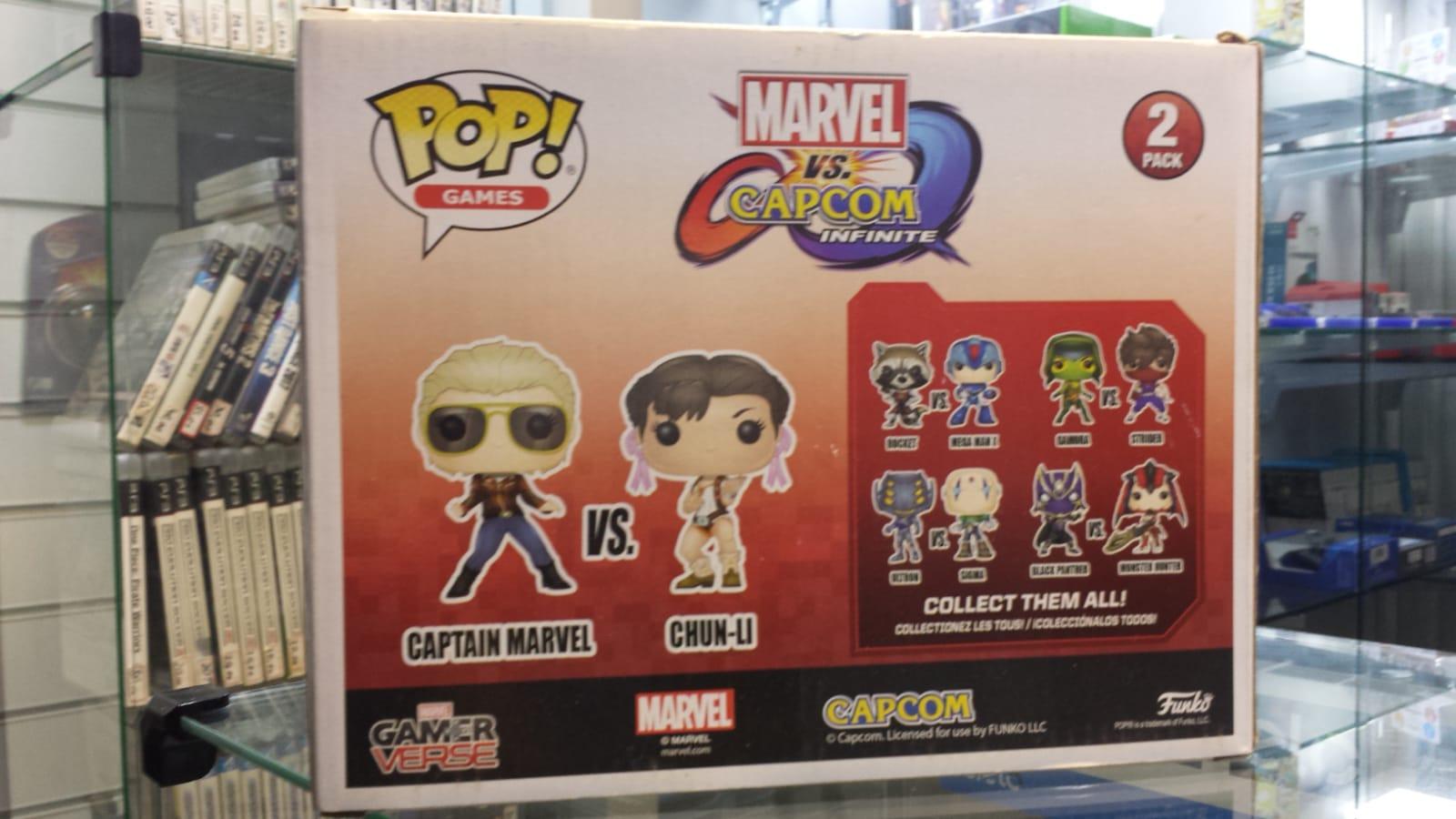 Funko Pop Marvel Vs Capcom Infinite Captain Marvel Vs Chun li