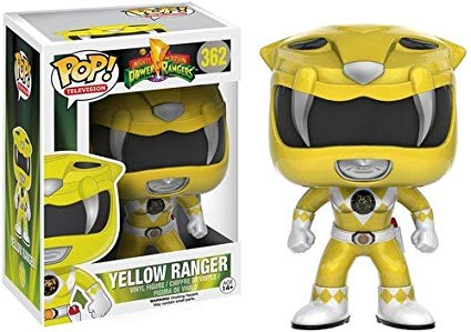 Funko Pop Ranger Amarelo Power Ranges 362 Bonecos Miniaturas
