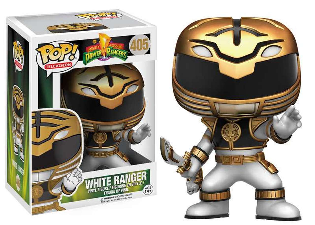 Funko Pop Ranger Branco Power Ranges 405 Bonecos Miniaturas