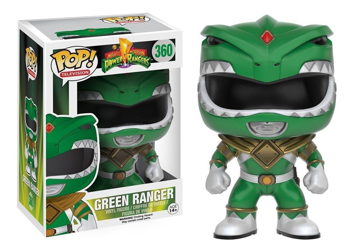 Funko Pop Ranger Verde Power Ranges 360 Bonecos Miniaturas