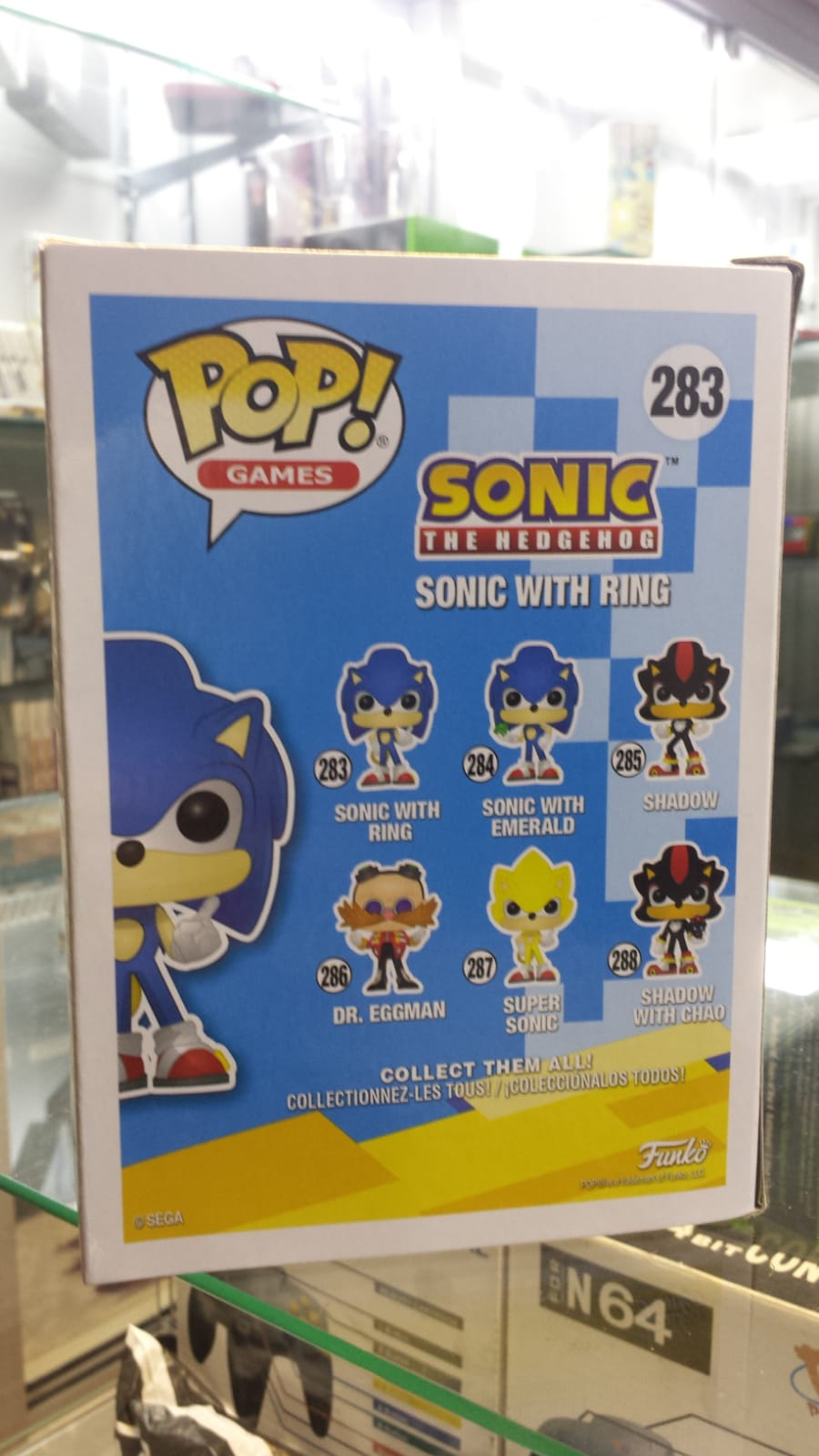 Funko Pop Sonic the Hedgehog Sonic With Ring