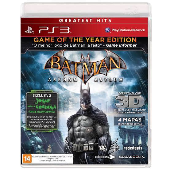 Jogo Batman Arkham Asylum semi novo Ps3