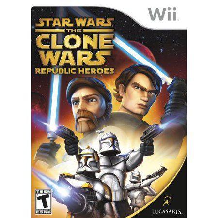 Jogo Star War the Clone Wars Republic Heroes Wii semi novo