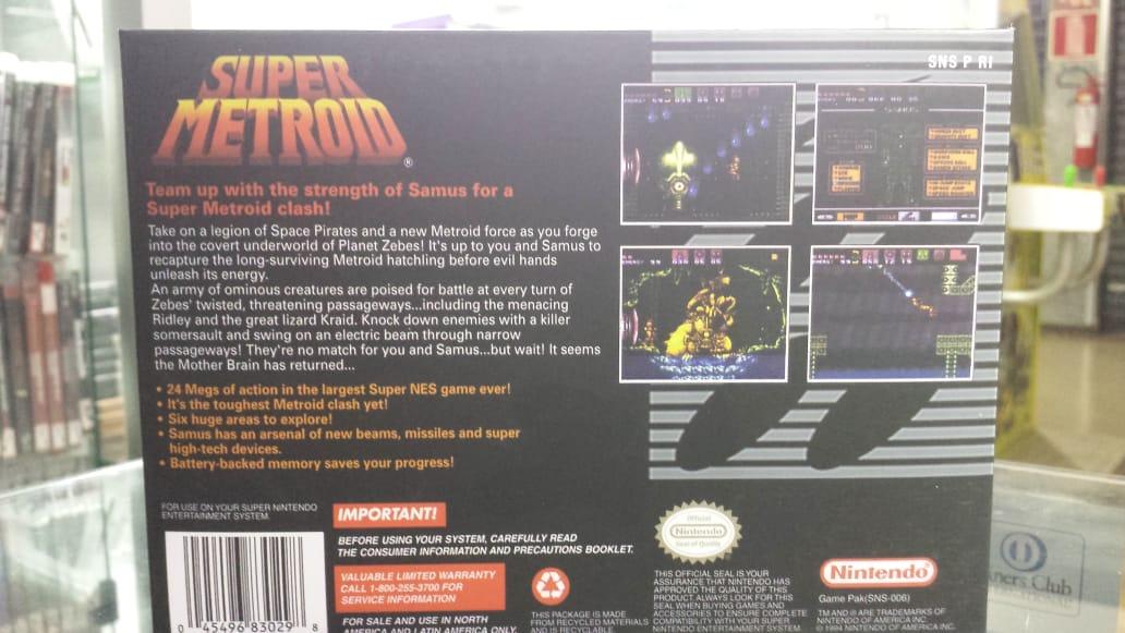 Jogo Super Metroid para Super Nintendo
