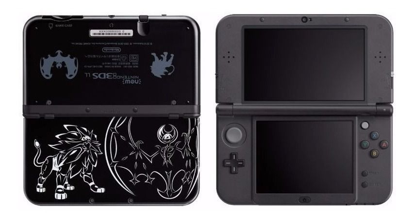 New 3Ds xl Ediçao Solgaleo Lunala Black Edition Novo