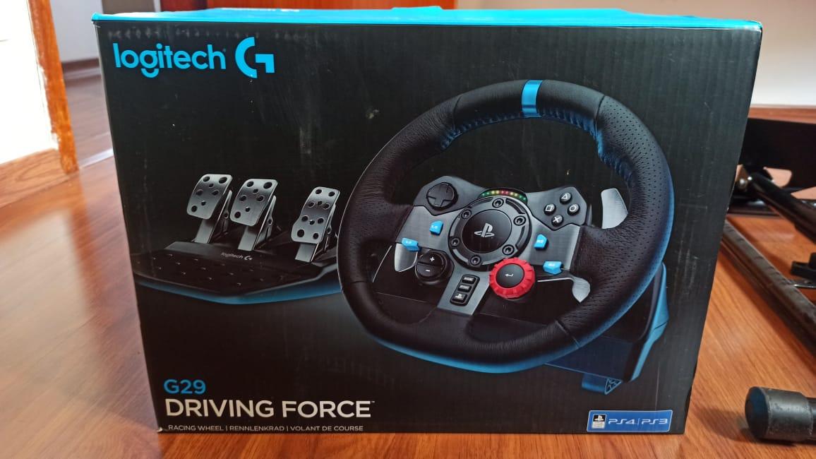 Volante Logitech G29 Seminovo PC Ps4 Ps3 + Câmbio Shifter + Cockpit  + Jogo