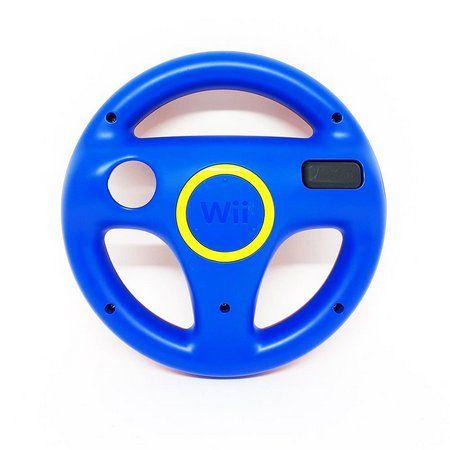 Volante Wii Vermelho e Azul Mario Kart semi novo sem caixa