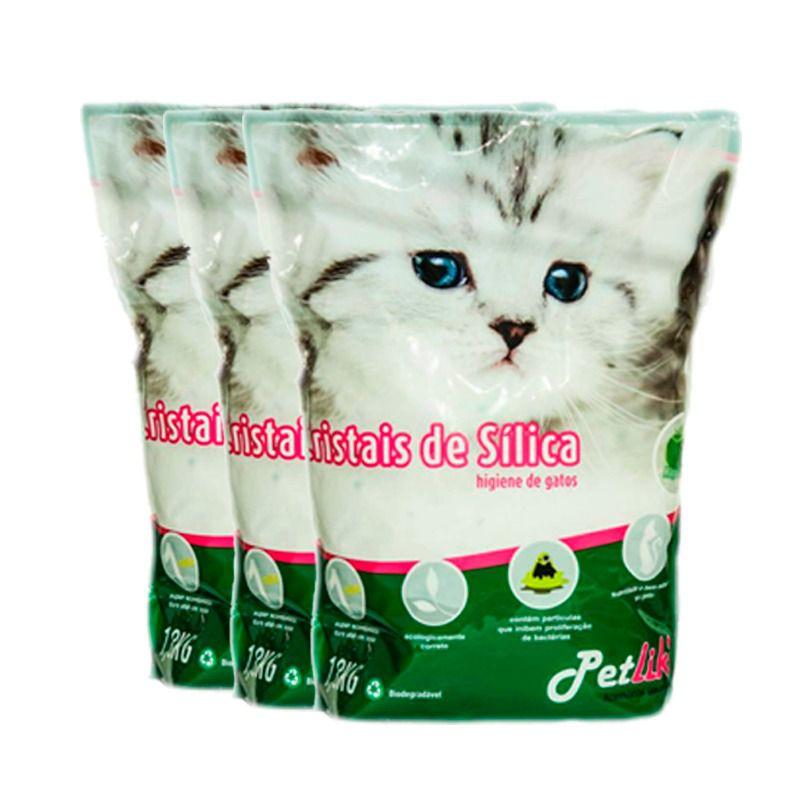 3 Pacote  Areia para Gatos Gel Cristais De Silica 1,6 Kg P&B