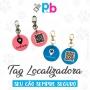 Tag de localização do seu pet QR-CODE integrado Cor Azul