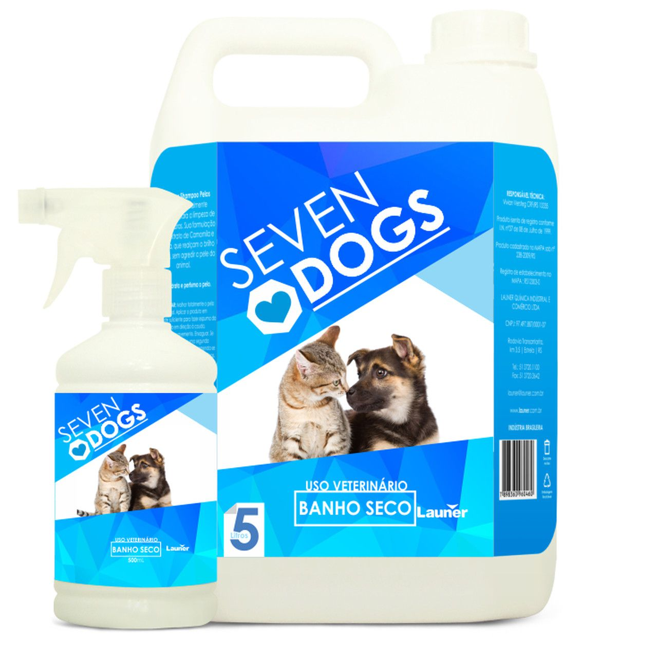 BANHO SECO SEVEN DOGS 2BB X 5l