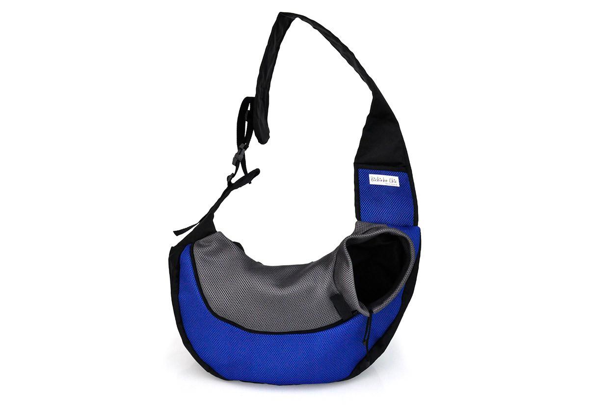Bolsa Conforto Azul para Cachorro Bichinho Chic - P