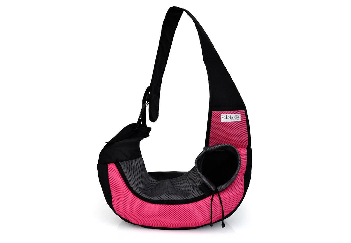 Bolsa Conforto Rosa para Cachorro Bichinho Chic - P