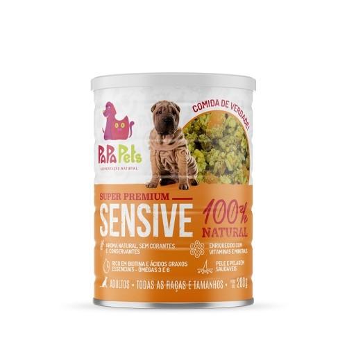 Caixa Ração Úmida Natural Cães  Idosos PapaPets Sensive 12un