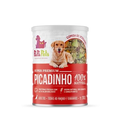 Caixa Ração Úmida Natural Cães PapaPets Picadinho 12unid