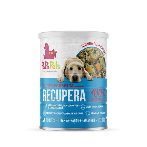Caixa Ração Úmida Natural Cães  PapaPets Recupera 12unid