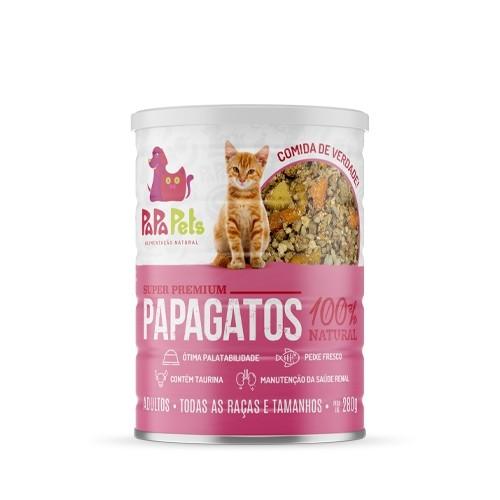 Caixa Ração Úmida Natural Gatos PapaPets Frango Peixe 12unid