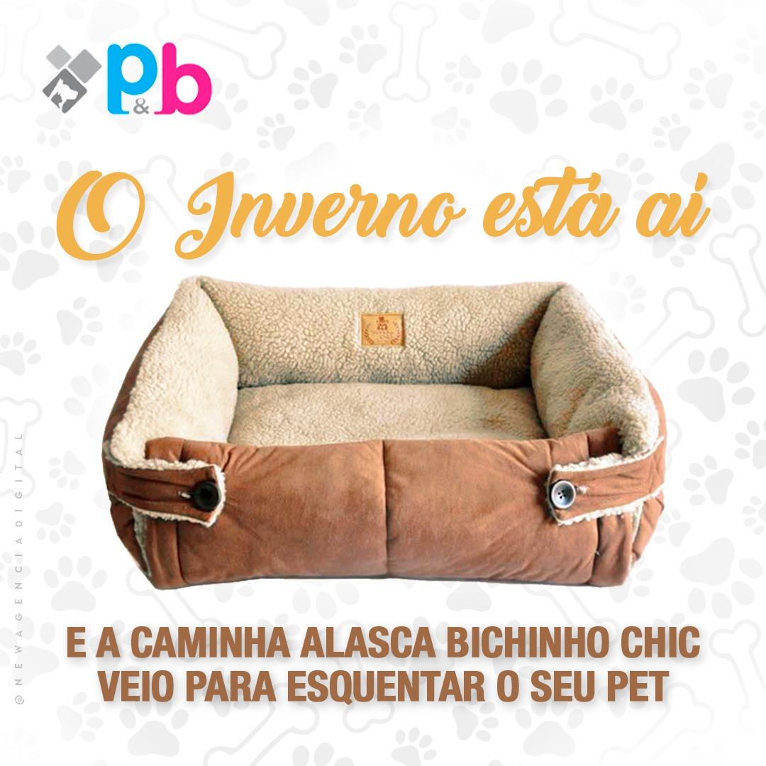 Cama Alasca Marrom  Bichinho Chic - P
