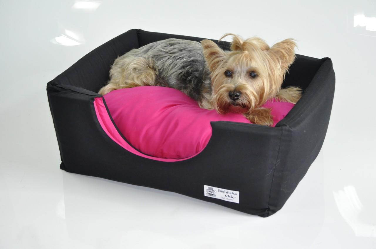 Cama cachorro  Casa Standard  -  Preto e rosa Bichinho Chic  - G