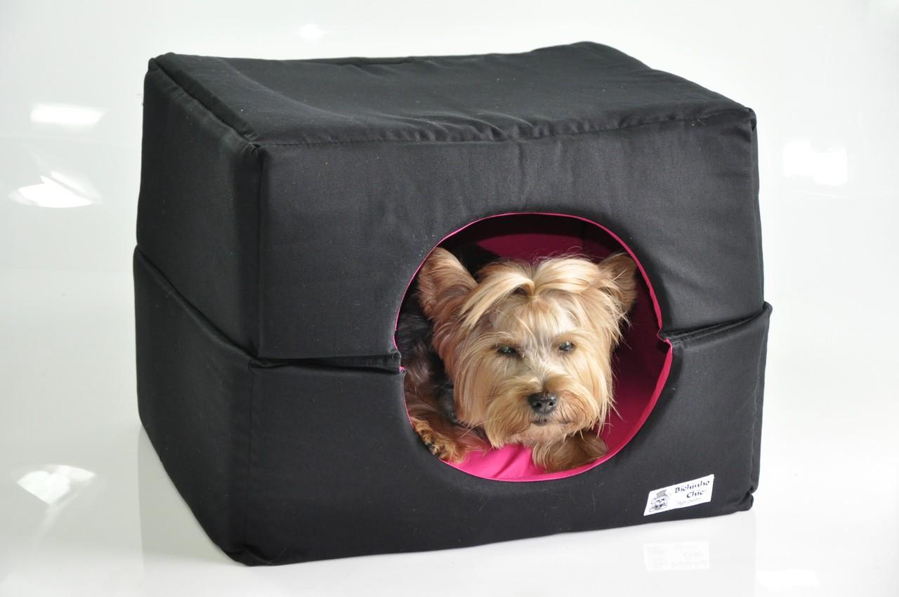 Cama cachorro  Casa Standard  -  Preto e rosa Bichinho Chic  - P