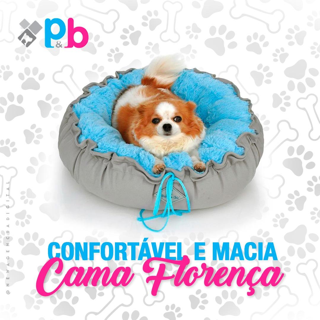 Cama  para cachorro Firenze Bichinho Chic  -  Azul- M