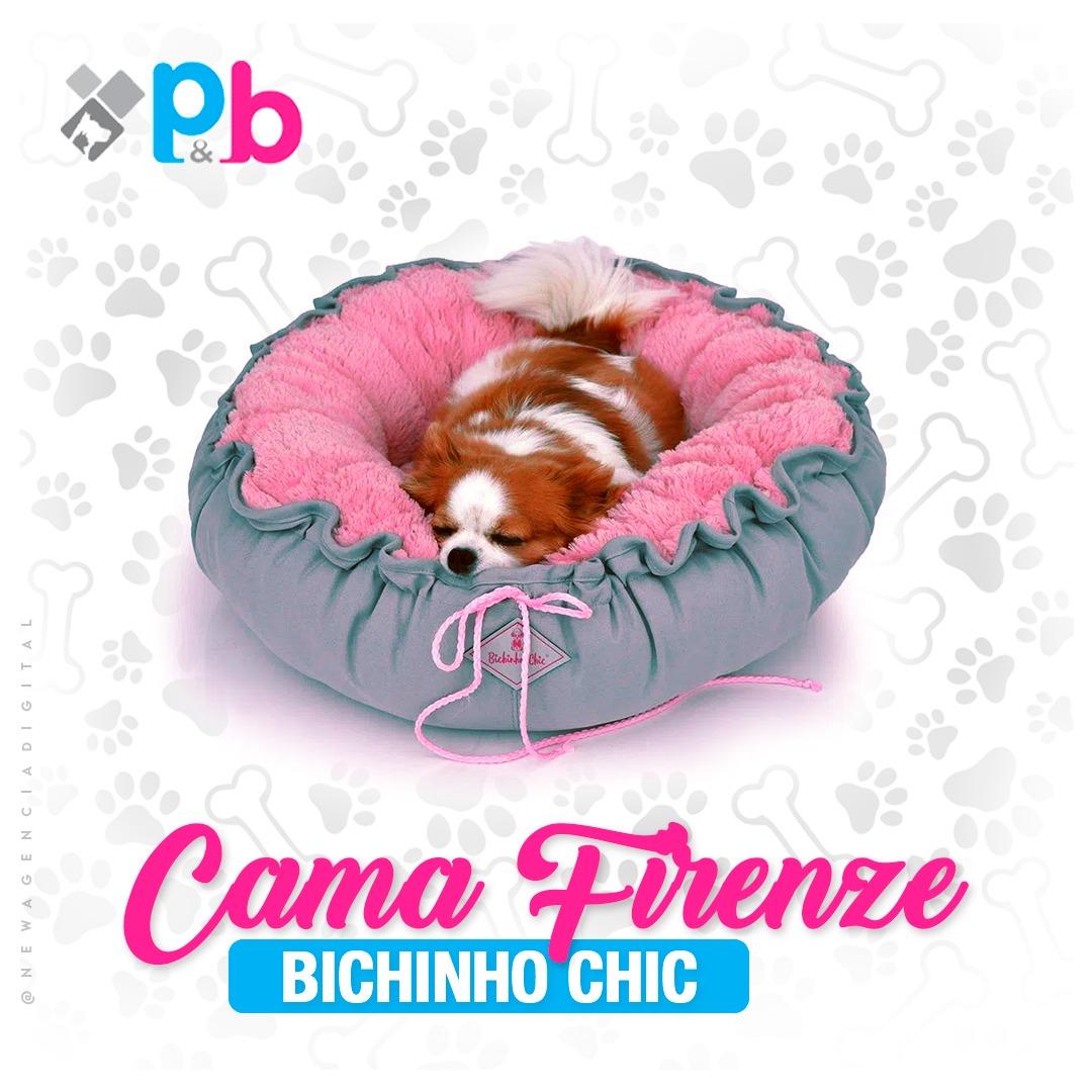 Cama  para cachorro Firenze Bichinho Chic  -  Rosa - M