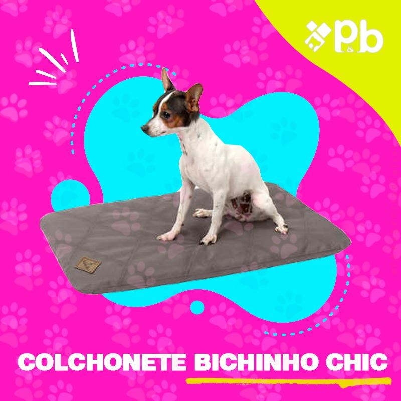 Colchonete Resistente Cinza  Bichinho Chic - GG