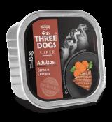 Patê Three Dogs Adulto Sabor Carne e Cenoura 150g