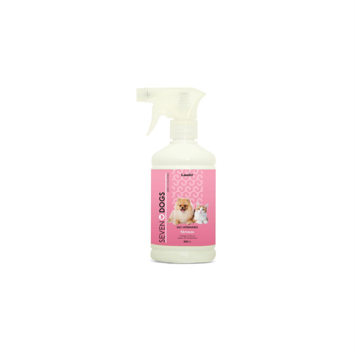 Perfume Deo Colonia para Cachorro Femeas Seven Dogs 500 ml