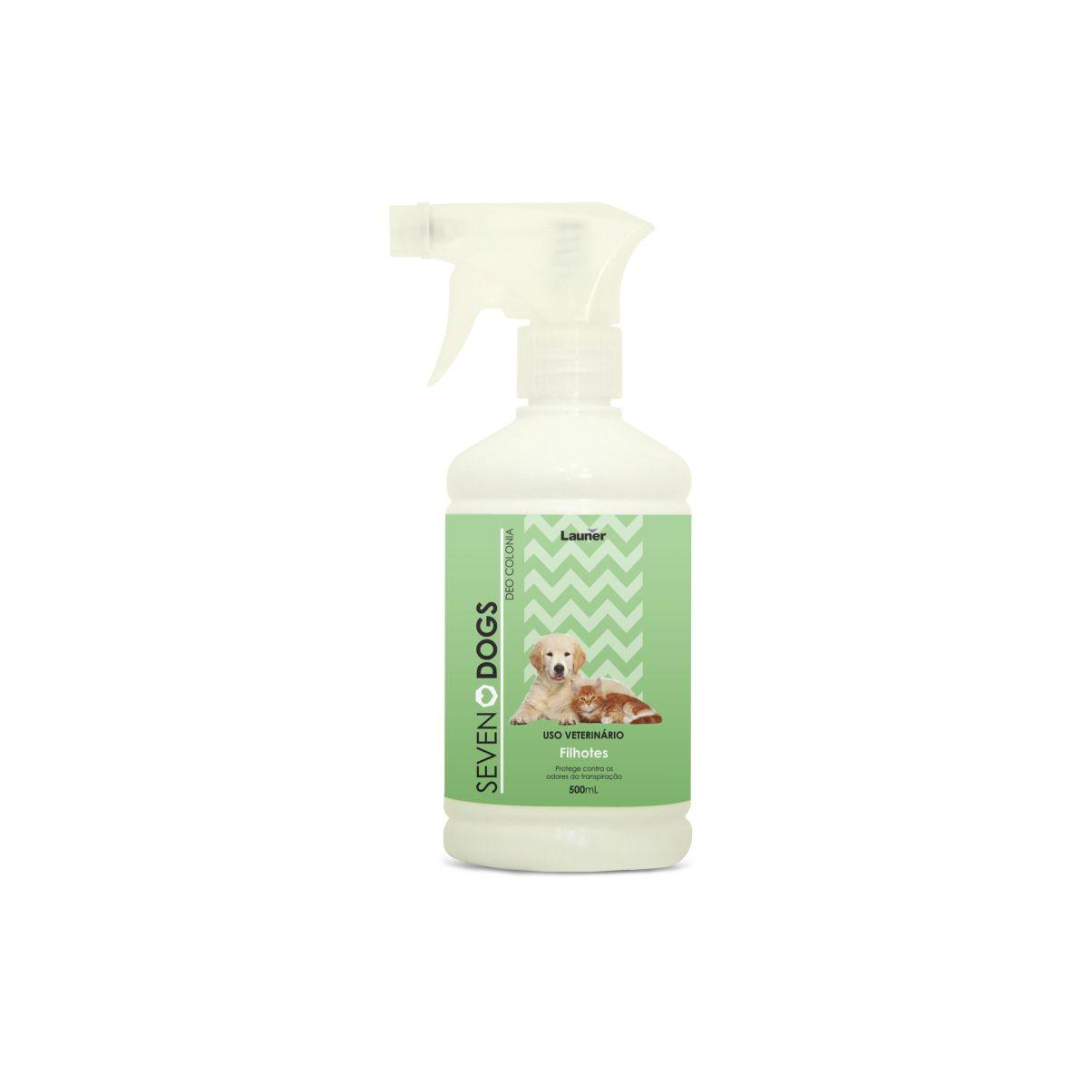 Perfume Deo Colonia para Cachorro Filhotes  Seven Dogs 500 ml