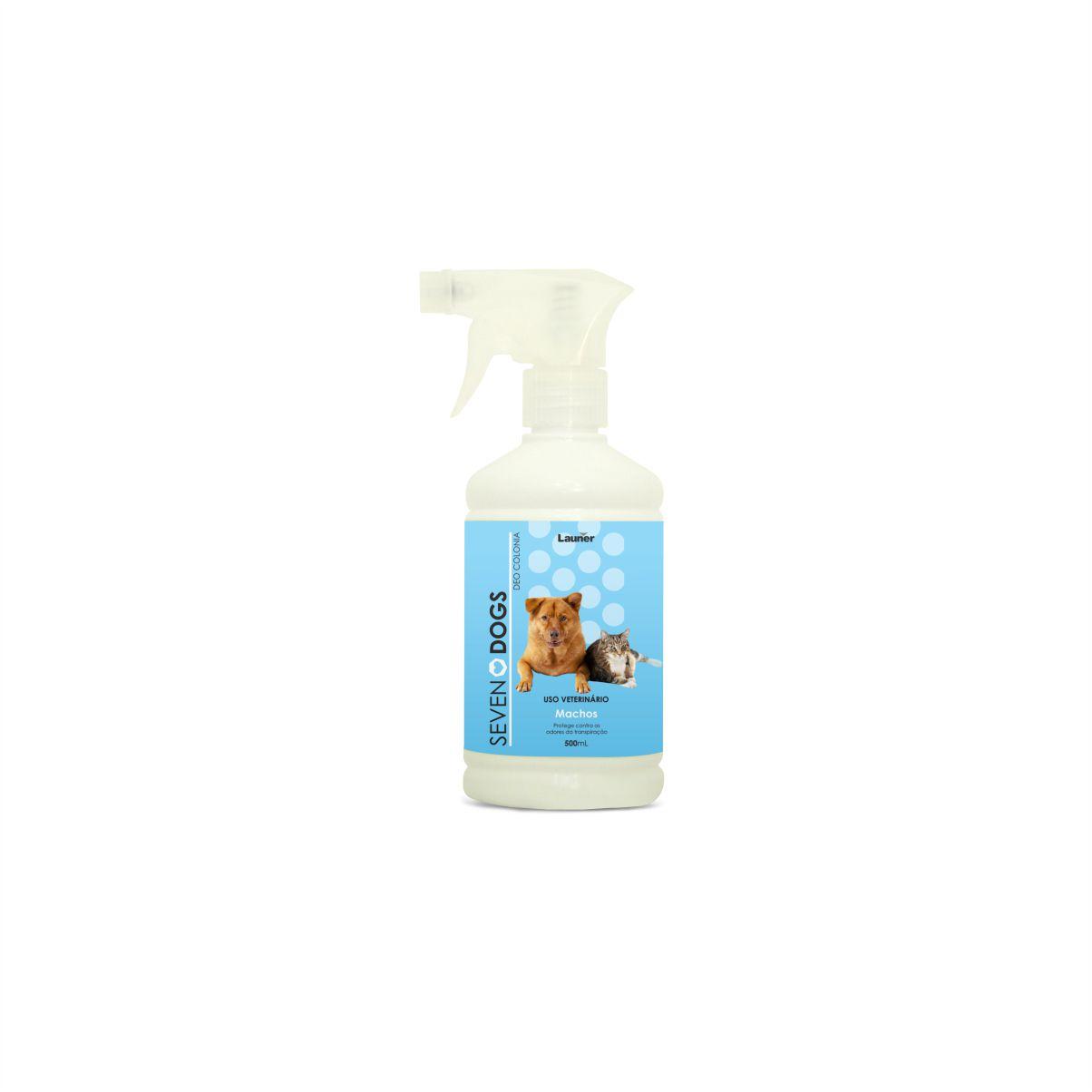 Perfume Deo Colonia para Cachorro Macho Seven Dogs 500 ml