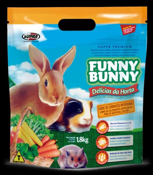 Ração Funny Bunny Delícias da Horta Alimento para Coelhos 1.8Kg