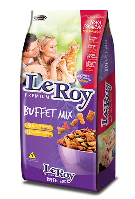 Ração para Gatos Leroy Buffet Mix  3kg P&B