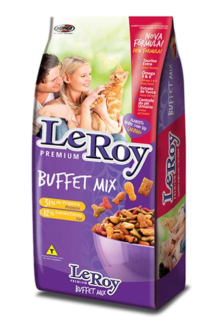 Ração para Gatos Leroy Buffet Mix - 7 kg