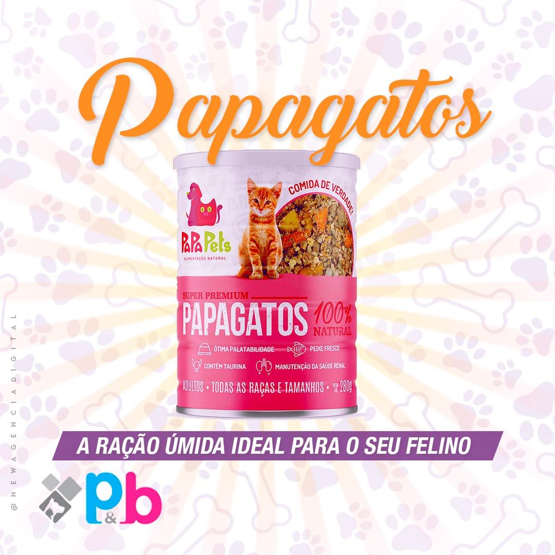 Ração Úmida Natural Gatos Adultos PapaPets Frango Peixe 280g