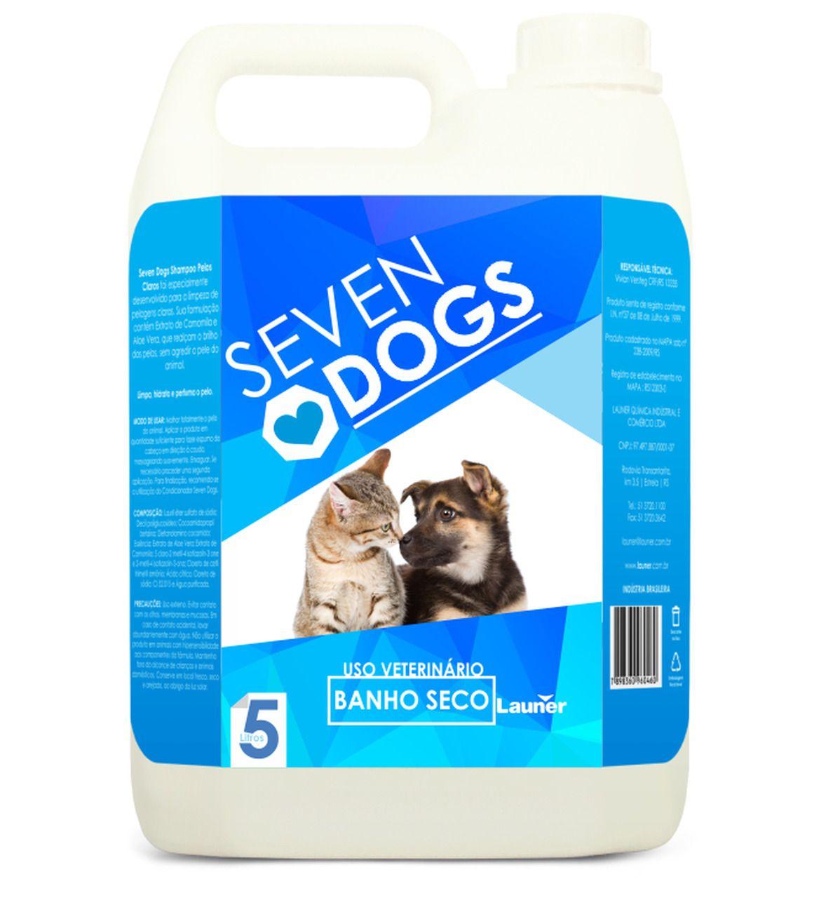 Shampoo Banho a Seco Seven Dogs 5 litros