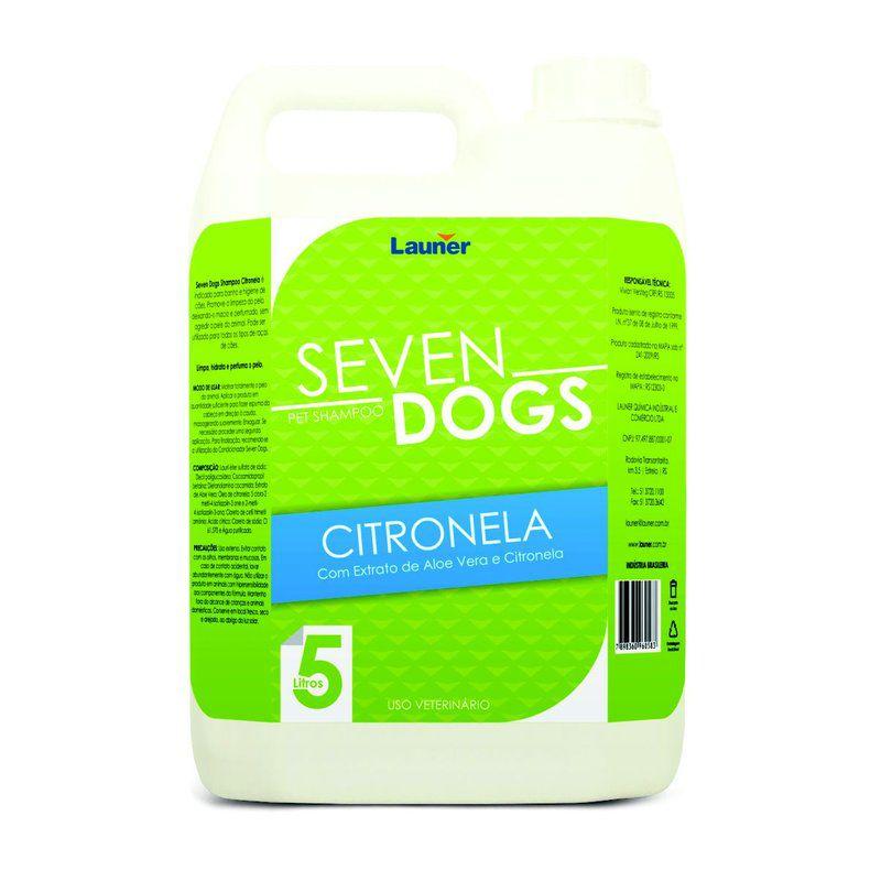 SHAMPOO CACHORRO  CITRONELA SEVEN DOGS   5L