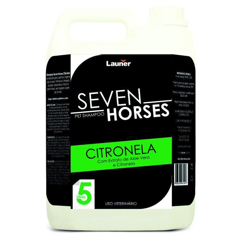 SHAMPOO CAVALO  CITRONELA SEVEN HORSE 5 L