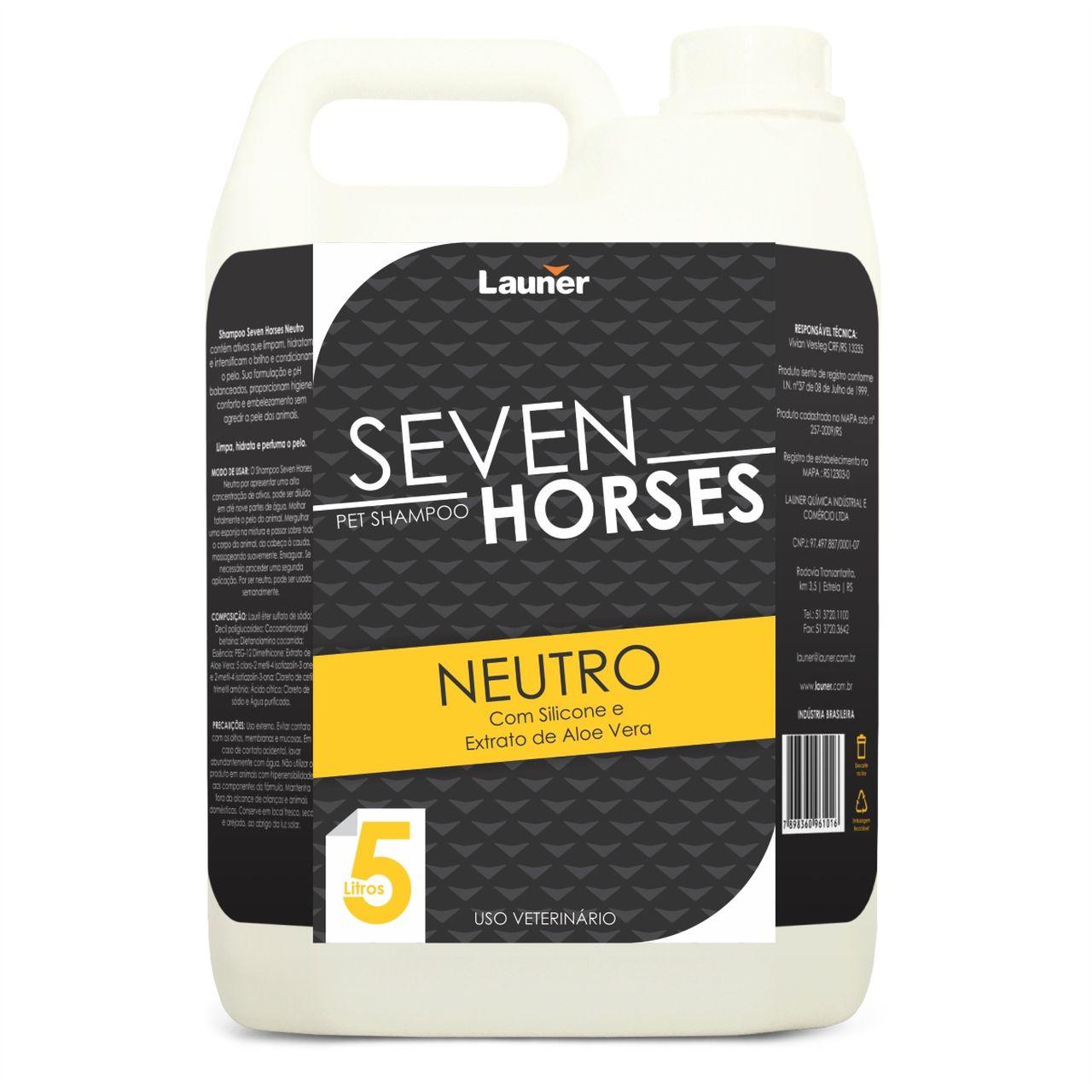 Shampoo para cavalo Seven Horse Neutro 5 l -