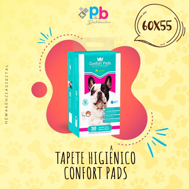 Tapete Higienico para cachorro  Confort Pads-60x55 CM-30 Un
