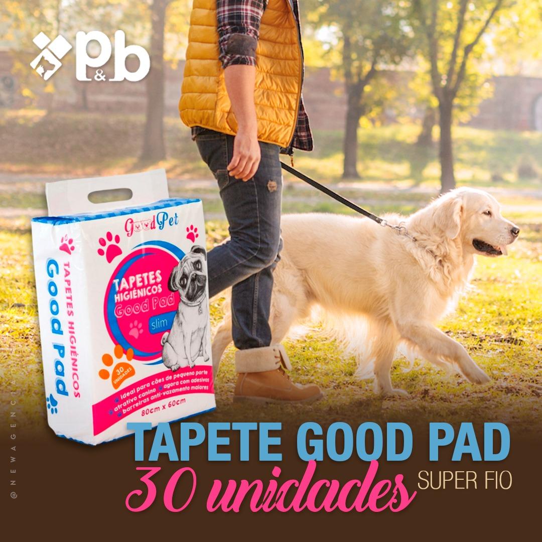 Tapete Higiênico para Cães Good Pad 60X60CM - 30UND - P&B