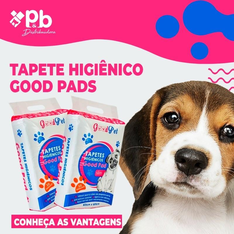Tapete Higiênico para Cães Good Pad 60X60CM - 50 UND - P&B