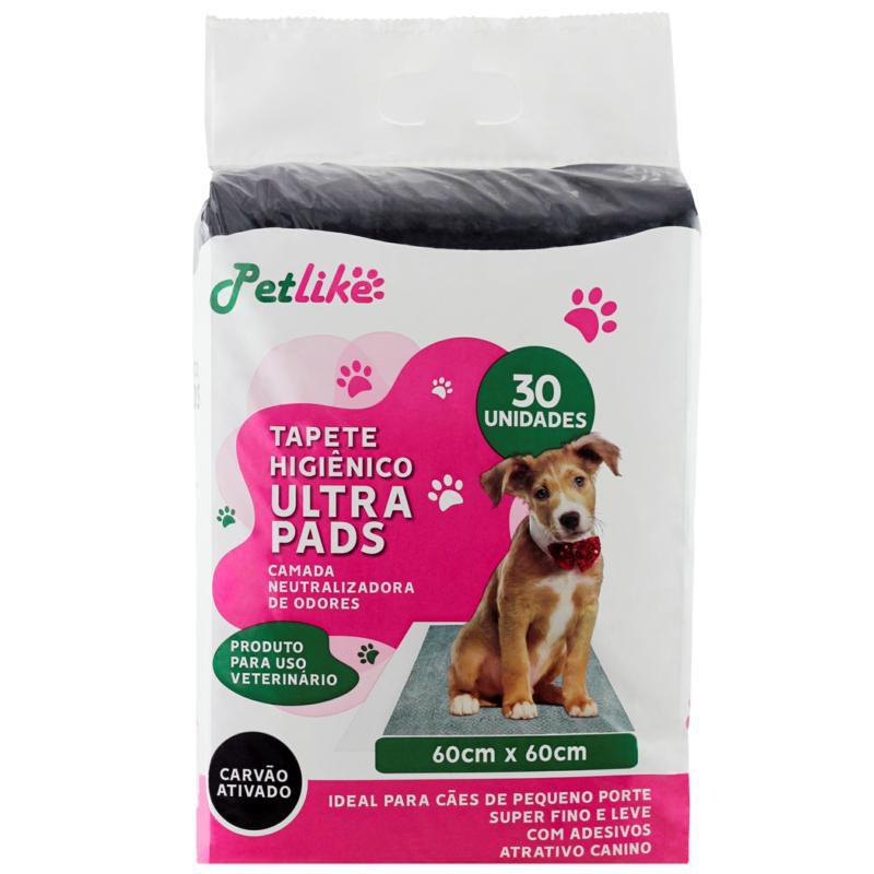 Tapete Higiênico para Cães Ultra Pads Carbono 60x60 30 Unidades P&B