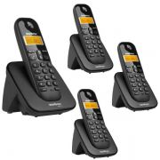 04555a776 Telefone Sem Fio Intelbras TS 3110 Preto 1
