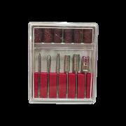 Brocas Manicure Acrigel Kit 6 Brocas 6 Lixas Unha