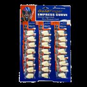 Cartela Unhas Postiças Gold Finger 24 Pacotes Empress Curve
