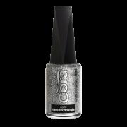 Esmalte Cora Prata Glitter  9ml
